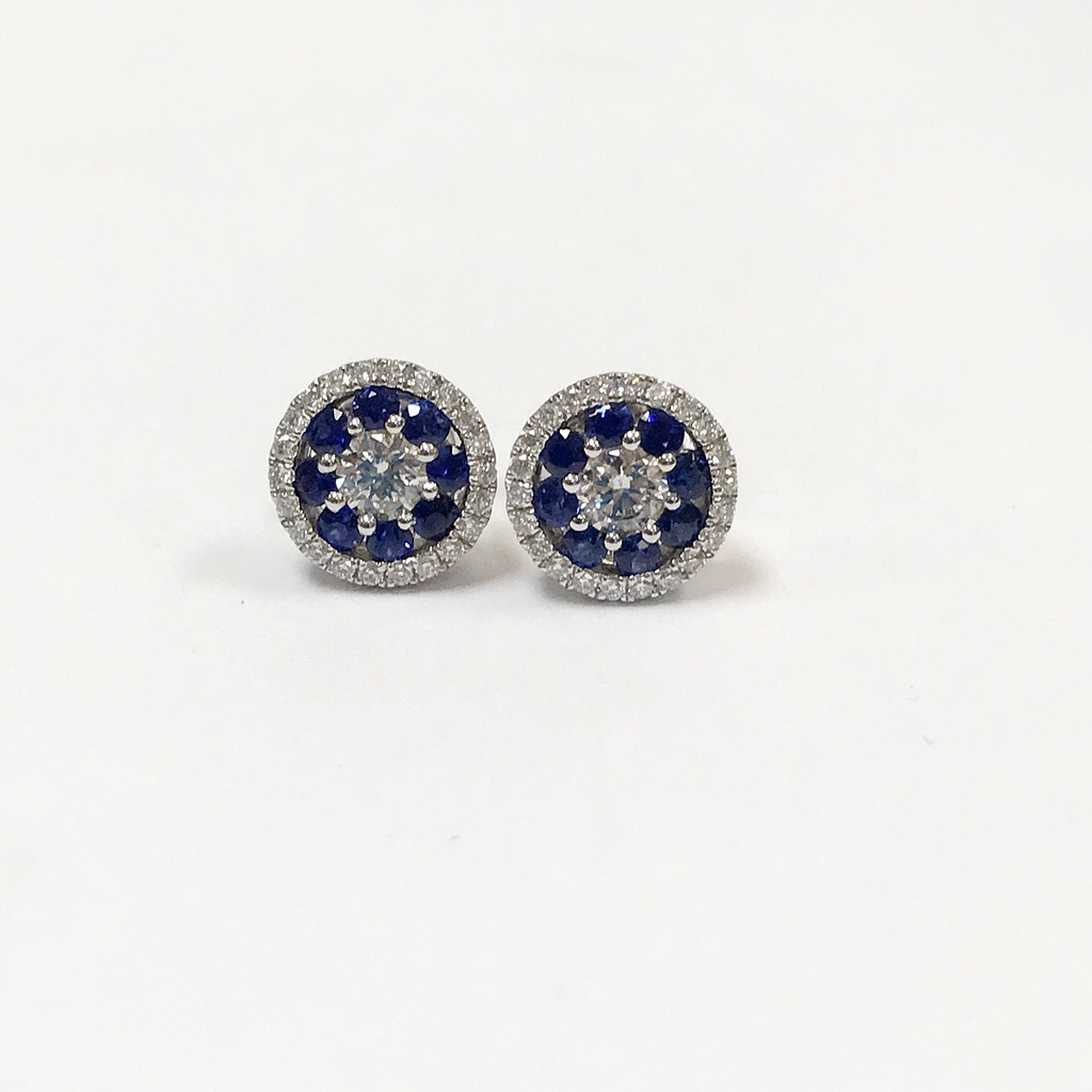 Earrings by S. Kashi & Sons